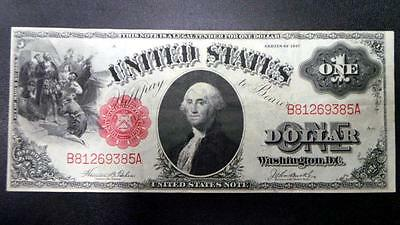1917 United States $1.00 One Dollar Note Clean Crisp AU Very Nice
