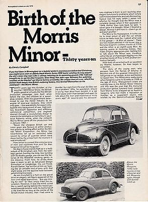 10 LOT Vintage MORRIS MINOR Cars, All Multi-Page Magazine Articles & UK issue