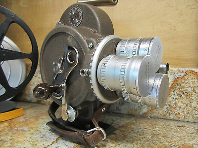 Bell & Howell 70Dr 16Mm Movie Camera Angenieux .95/25Mm,10Mm, 75Mm Lens! Prop