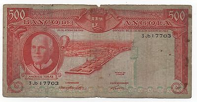 Angola Portugal 500 Escudos 1962 Pick 95 Look Scans