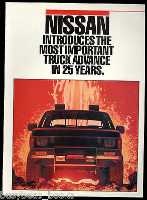1986 NISSAN PICKUP 8-page advertisement, Nissan Pickup Trucks