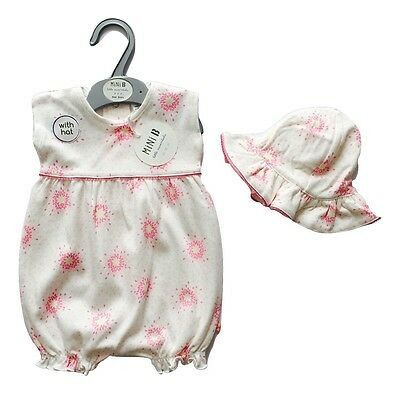 Baby Girls Summer Clothes New Romper Jumpsuit Hat Outfit BHS 0 3 6 9 12 Months