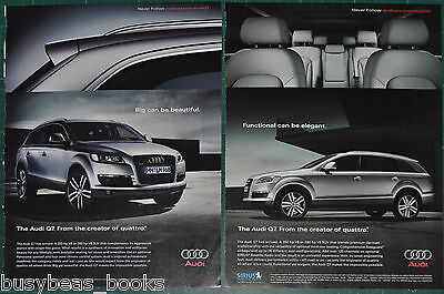 2006 AUDI Q7 advertisements x2, Audi Q7 SUV, Big is Beautiful