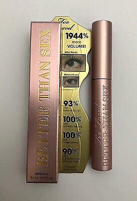 Too Faced Better Than Sex Mascara Black 8ml Brand New