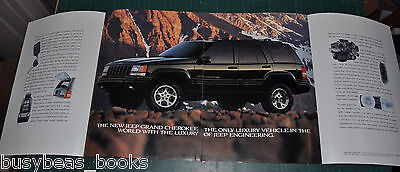 1996 JEEP GRAND CHEROKEE 8-page advertisement, Jeep Cherokee