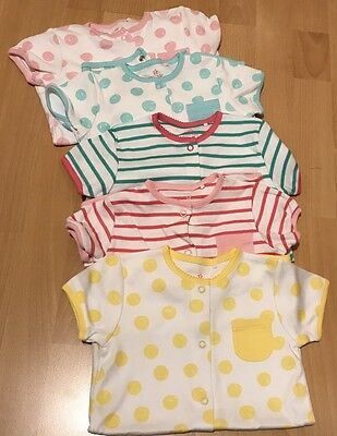 Next Baby Girls Romper Suits Set Of 5. Brand New -size 9-12 Months
