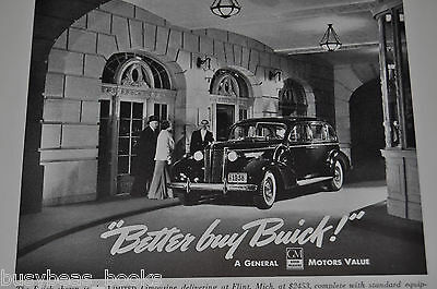 1938 BUICK advertisement, Buick Limited Limousine, with chauffer