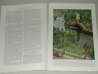 1937 magazine articles BEKONSCOT England Model Town color photos