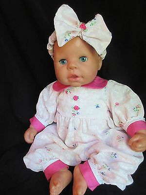 "19"" *zapf* Baby Annabell Interactive Baby Doll Laughs Coos Sleeps"