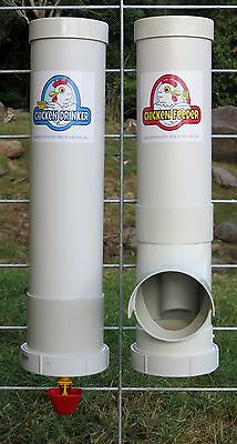 Chicken / Poultry Coop - MIX-&-MATCH Feeder & Drinker Set