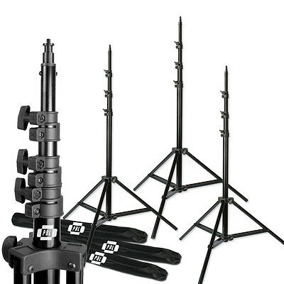 PBL 10ft Air Cushioned Photography Video Studio Lighting Stands Set of 3
