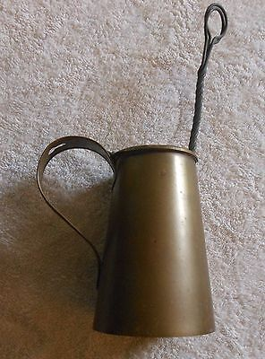 Vintage Brass Fire Starter, Smudge Pot w Pumice Stone Wand. Unused original cond