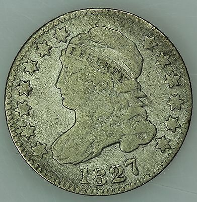 1827 Bust Dime! Vg+! Very Good! 10C! Us Coin Lot #3273