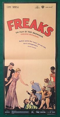Original Italian Poster Freaks Browning Theatrical Folded Very Very Good Rare
