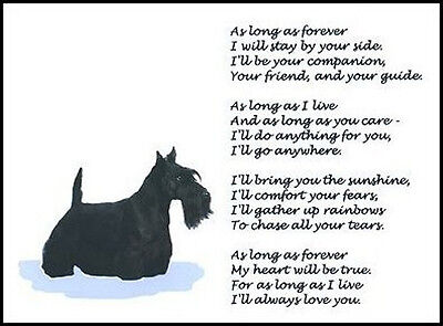 """Beautiful SCOTTISH TERRIER print """"AS LONG AS FOREVER"""" poem scotty scottie NEW!"""