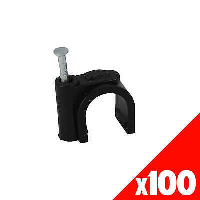 NAIL SADDLE CLAMP 13mm Garden Water Irrigation Hydroponic 45365 BAG of 100