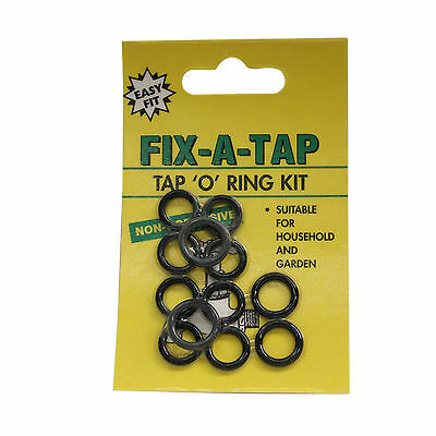 Fix-A-Tap Tap 'O' Ring Kit 12 Pack Household and Garden 207029