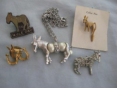 Lot of Vintage Donkey/Mule Jewelry
