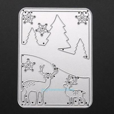 Christmas Cutting Dies Stencil DIY Scrapbook Embossing Album Paper Cards Decor