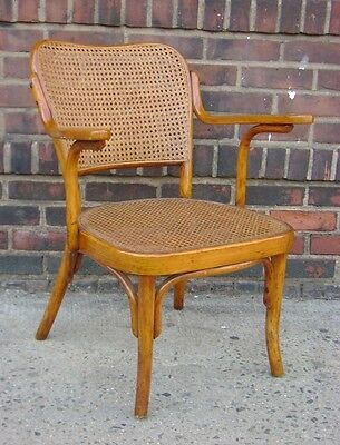 Original Antique Vintage Thonet Side Chair Cane Bent Wood England