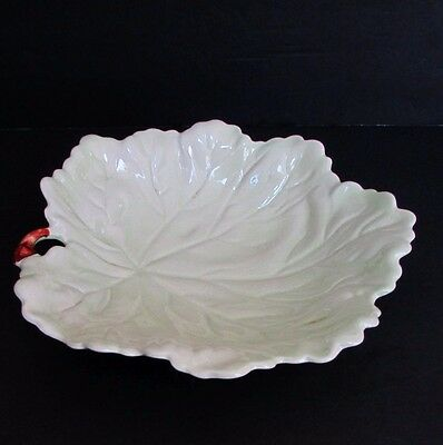 "Vintage Carlton Ware Large Green Leaf Dish Bowl 10"" x 10"" Made in England"