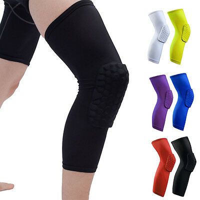 Breathable Honeycomb Sock Long Knee Pads Brace Protector Sleeve Pads Shockproof