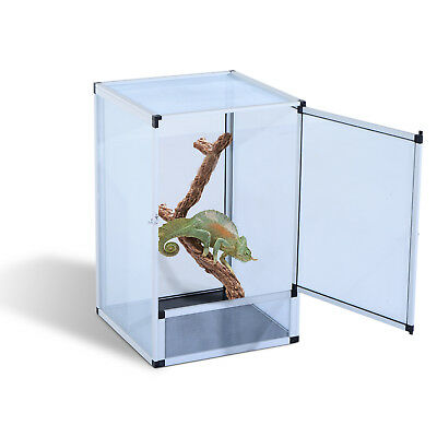 PawHut Reptile Terrarium Vivarium Tank Box Aluminum Mesh Screen Acrylic Door NEW