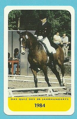 Reiner Klimke Equestrian Horse Jumping Cool Collector Card Europe Look!