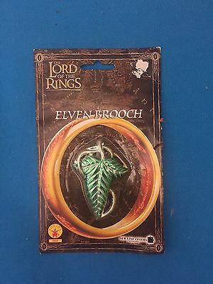 Official The Lord of the Rings Frodo Elven Brooch Leaf Clasp, NEW ON CARD
