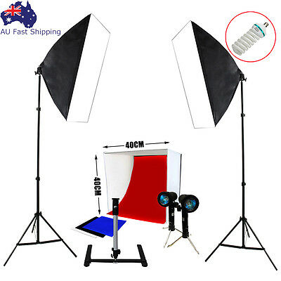 Photography Studio Cube Tent Photo Softbox Lighting Backdrops Light Stand Kit