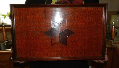 Vintage Wooden Inlay Serving Tray