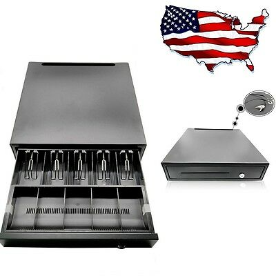 Cash Register Drawer Box 5 Bill 5 Coin Tray Compatible Works w/POS Printers USA