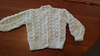 GIRL'S CARDIGAN, HAND KNITTED with LOVE.