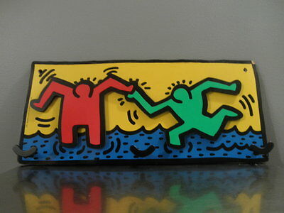 Keith Haring Wall Mount Coat Hanger Hat Rack Made in France by Vilac 1993