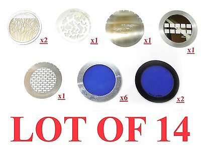 Lot 14 Apollo Lighting Dichroic Lenses Blue Round Filter D-4970 Rosco Gma Gobos