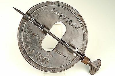 Vintage Late 1880s Griswold 7 INCH Steel Spindle Cast Iron Stove Pipe Damper