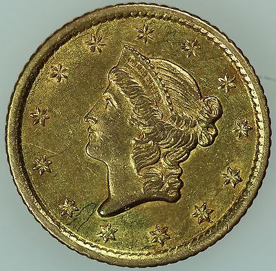 1853 O $1 Gold! Unc Details! One Dollar! $1! Us Coin Lot #3196