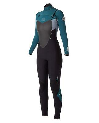 Rip Curl FLASHBOMB 4.3 GB Womens CHEST ZIP Steamer Wetsuit Size 12 - WSM4BG Teal