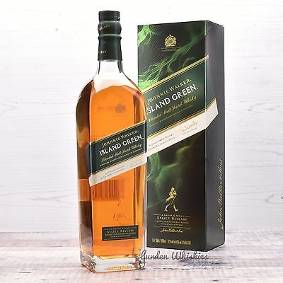 Johnnie Walker ISLAND GREEN 1 Litre Limited Edition Blended Malt Scotch Whisky