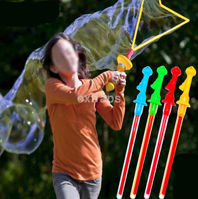 Hot Outdoor Children Kids Play Toy Bubble Sword Wand Water Fun Game US