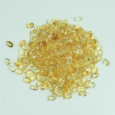 100% Natural Faceted Yellow Citrine Oval Shape Wholesale 152Ct Loose Gemstone