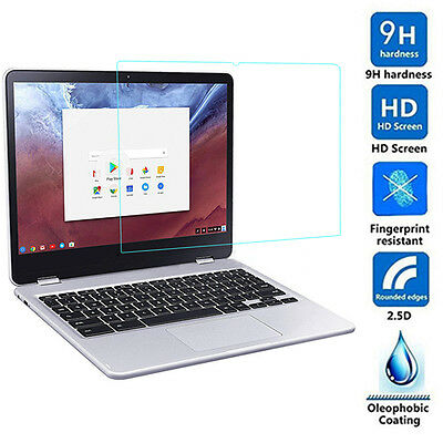 Clear HD Real Tempered Glass ^Screen Protector GUARD for Samsung ChromeBook Plus
