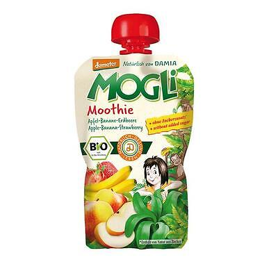 Mogil Organic Moothie 100% Fruit Apple,Banana & Strawberry100g x 6 Pouch Special