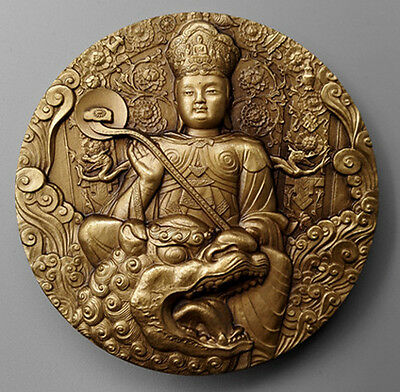 China Buddhist Wutai Mountain Brass Medal 60mm with COA and Bag Shenyang Mint