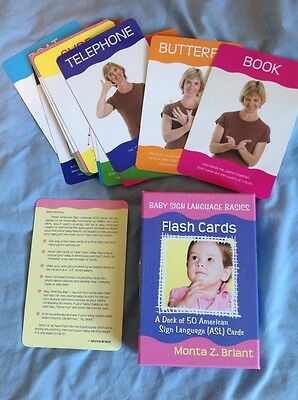 50 baby sign language cards Monta Z Briant teach baby to sign before talking