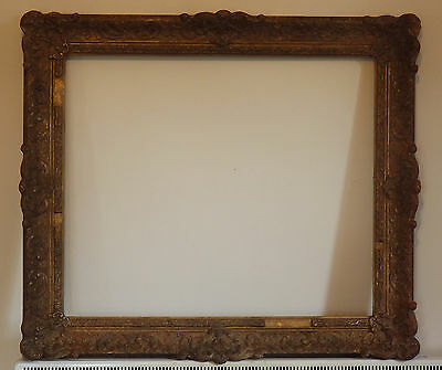 Superb 1900 Ornate Gilt Gesso Gallery Large frame Rococo Style