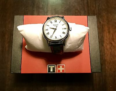 100% Brand New Tissot Leather Band Classic Watch