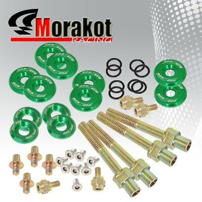 New Low Profile Engine Valve Cover Bolts for B16/B17/B18 V-tec Engines Green
