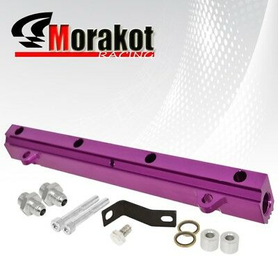 New EVO 4-7 8 9/ Eclipse 95-99 Eagle 4G63 Engine Top Feed Fuel Rail Kit Purple