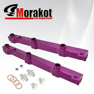 New For 350z/G35 VQ35DE Engine Aluminium Top Feed Fuel Rail Upgrade Kit Purple